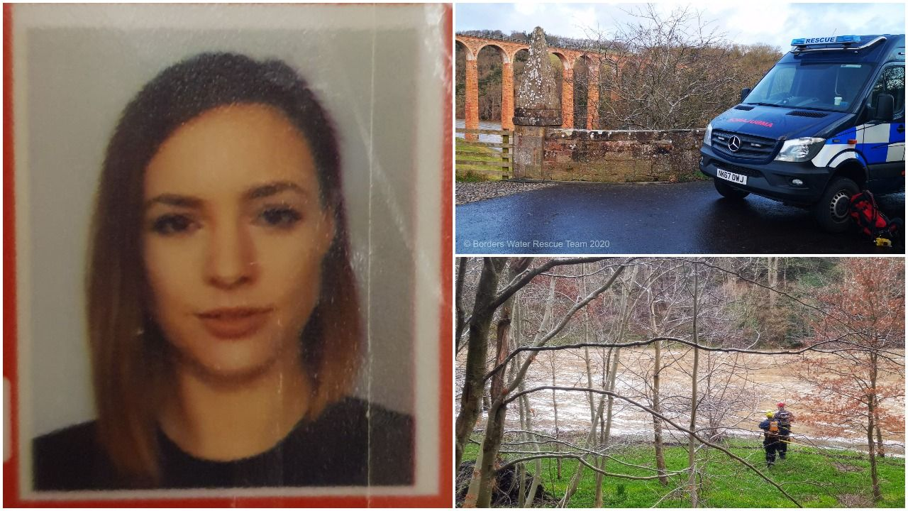 'Rampant' Tweed hampers search for missing Galashiels woman