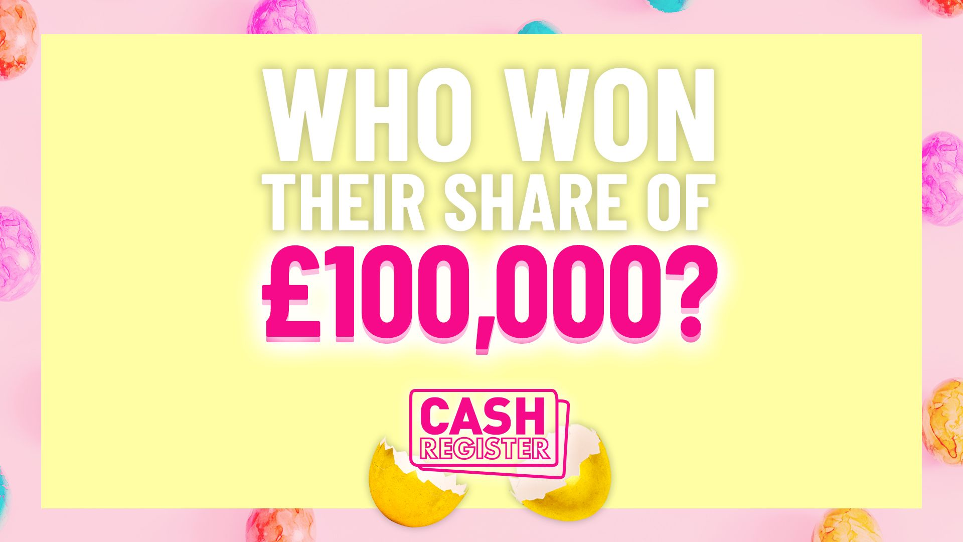 Who won their share of £100,000 today?