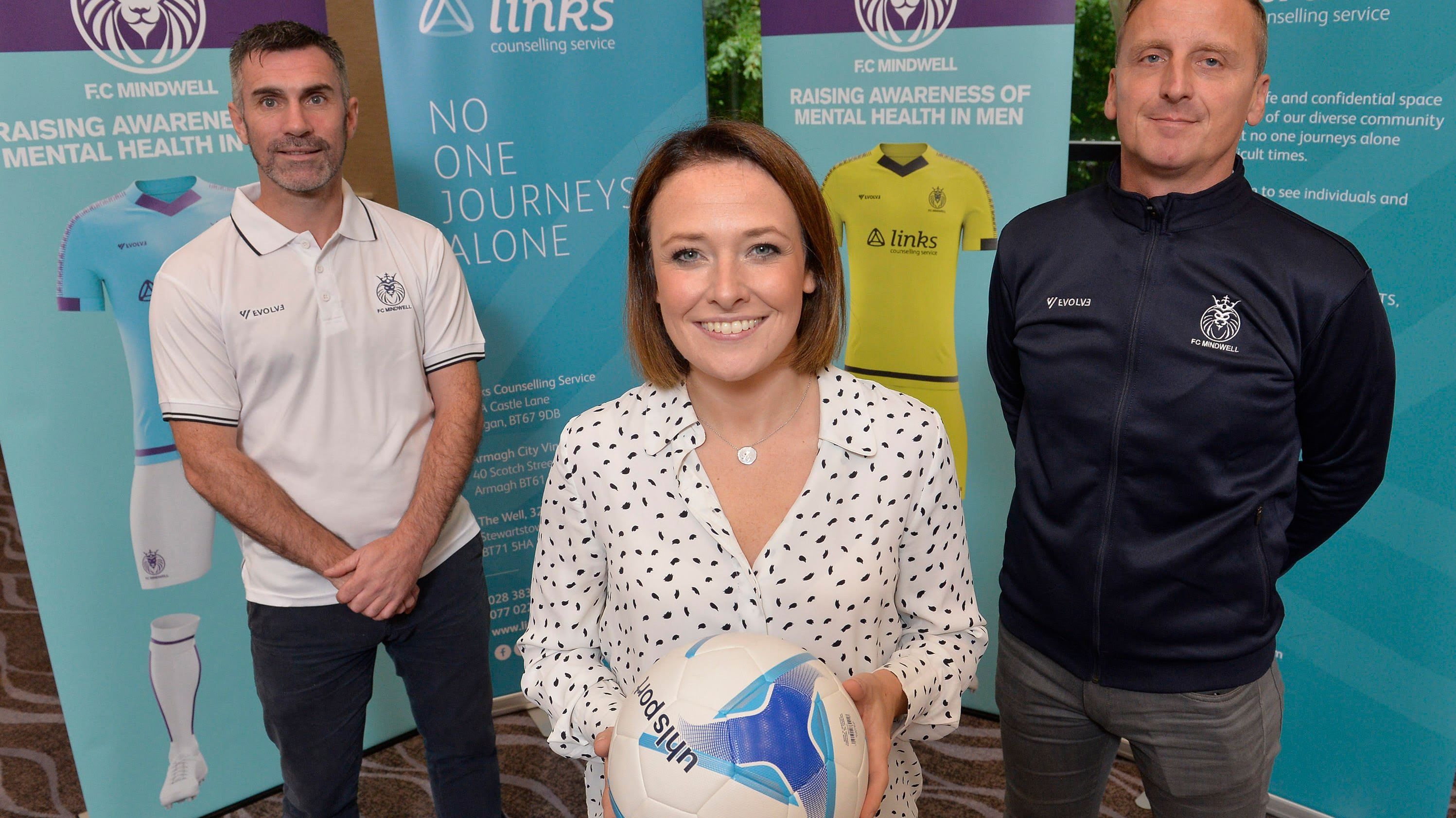 Kick off for first NI football team with focus on mental health
