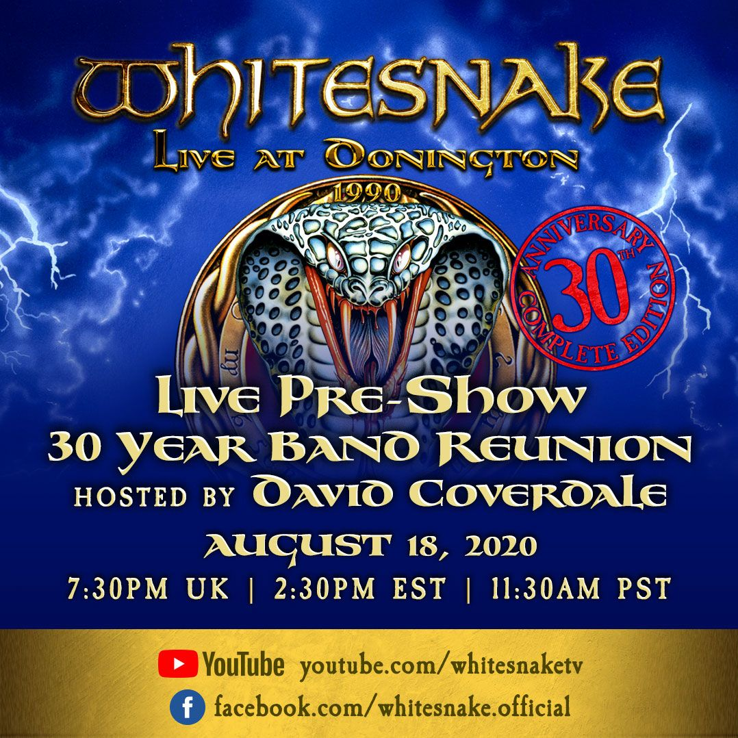 Whitesnake - Monsters of Rock reunion