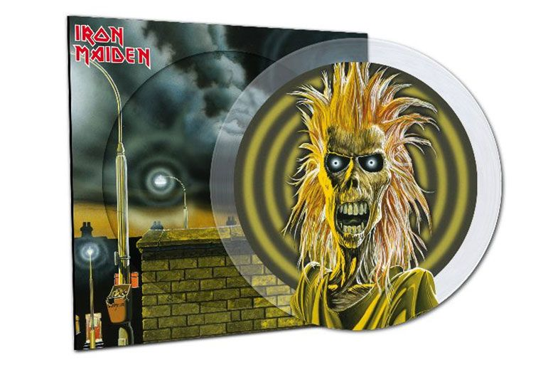 'Iron Maiden' limited-edition crystal clear picture disc vinyl