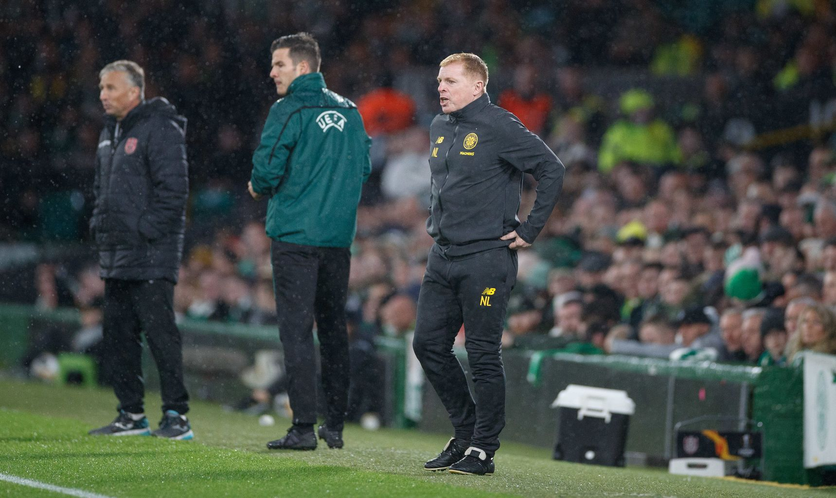 Celtic fan ran into dugout during game to take selfie with Neil Lennon
