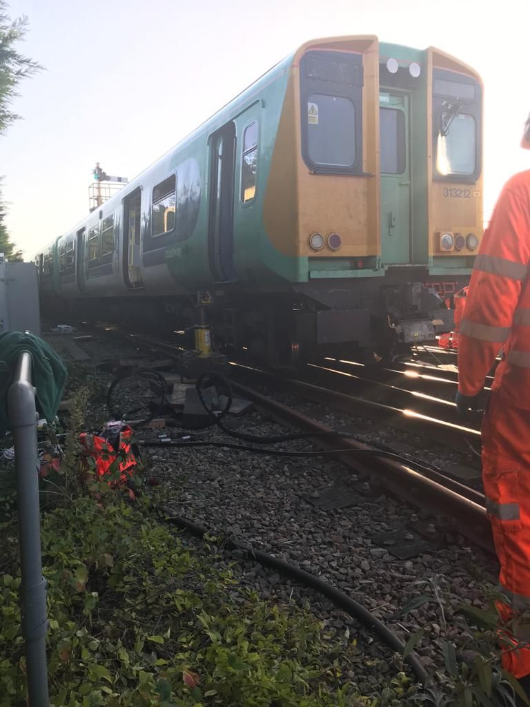 Some lines now open after train derailed at Bognor station this morning
