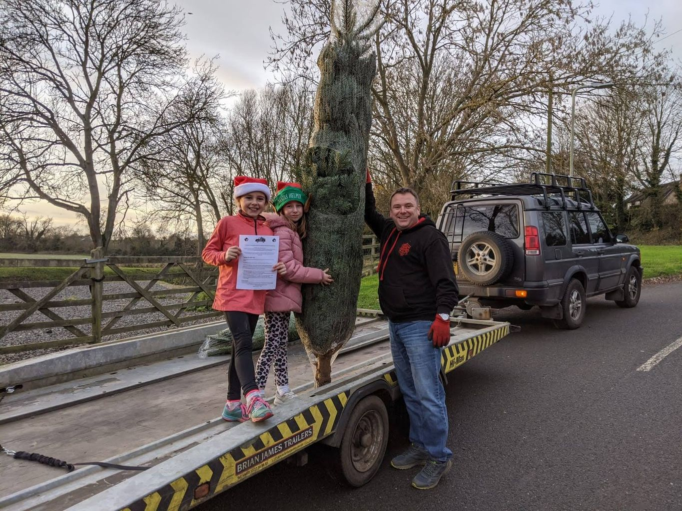 Oakham All Saints Scouts are bringing festive cheer right to your door step.